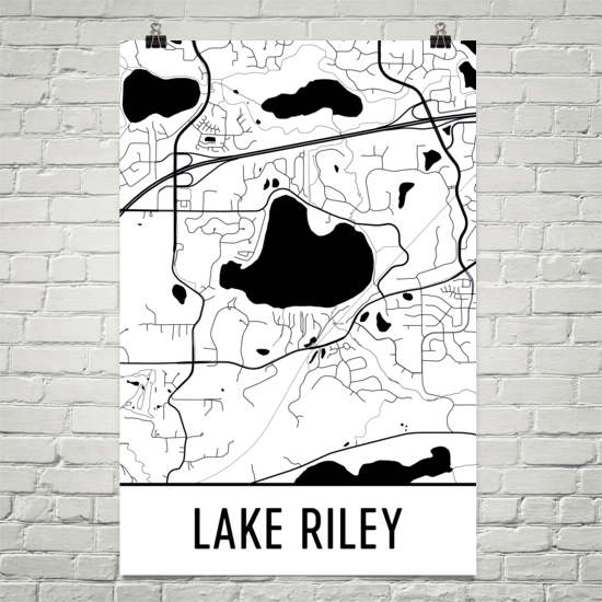 Lake Riley MN Art and Maps
