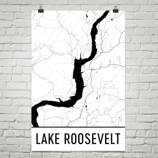 Lake Roosevelt WA Art and Maps