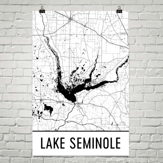 Lake Seminole GA Art and Maps