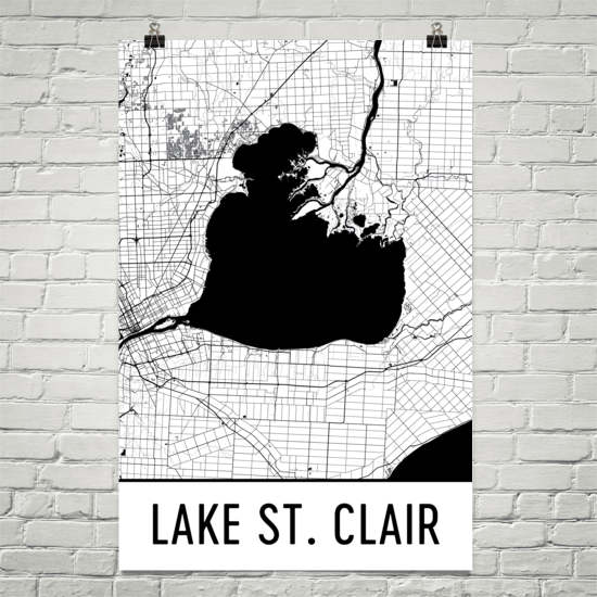 Lake St. Clair MI Art and Maps