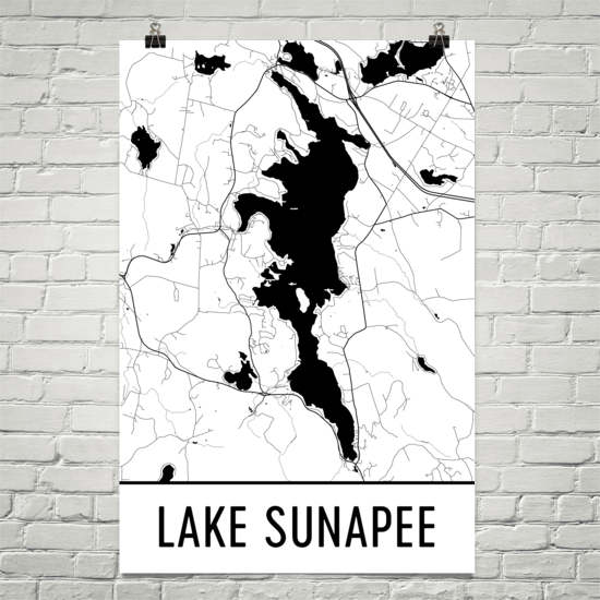 Lake Sunapee NH Art and Maps