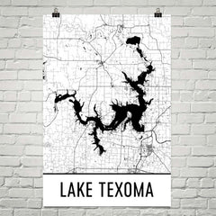 Lake Texoma TX Art and Maps