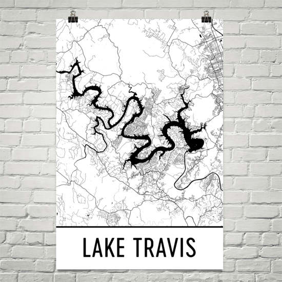 Lake Travis TX Art and Maps