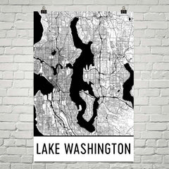 Lake Washington WA Art and Maps