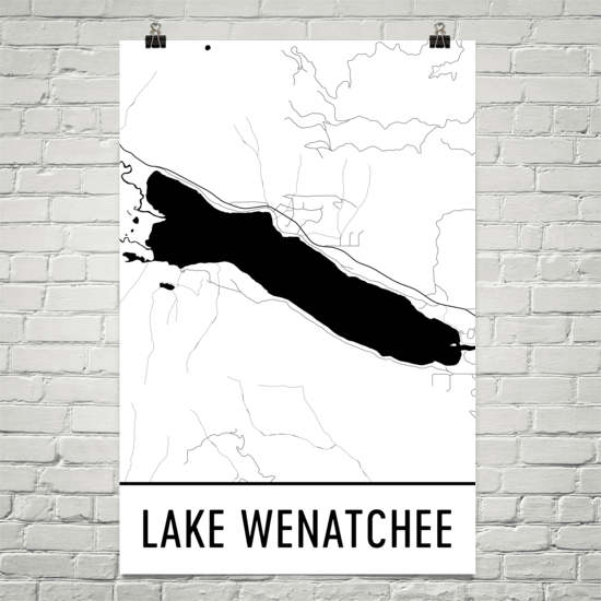 Lake Wenatchee WA Art and Maps