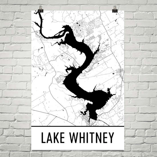 Lake Whitney TX Art and Maps