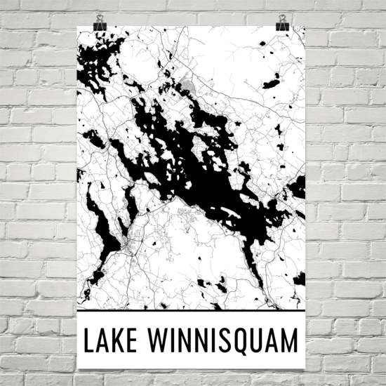 Lake Winnisquam NH Art and Maps
