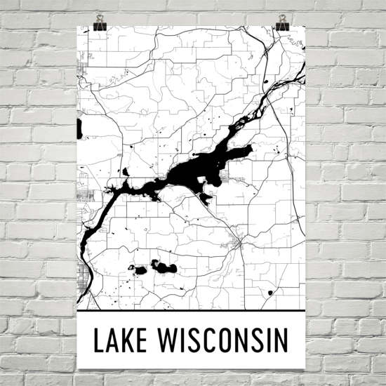 Lake Wisconsin WI Art and Maps