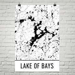 Lake of Bays ON Art and Maps