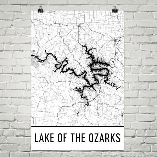 Lake of the Ozarks MO Art and Maps