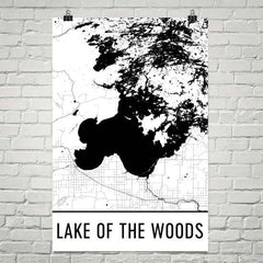 Lake of the Woods MN Art and Maps