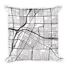 Las Vegas Map Pillow – Modern Map Art