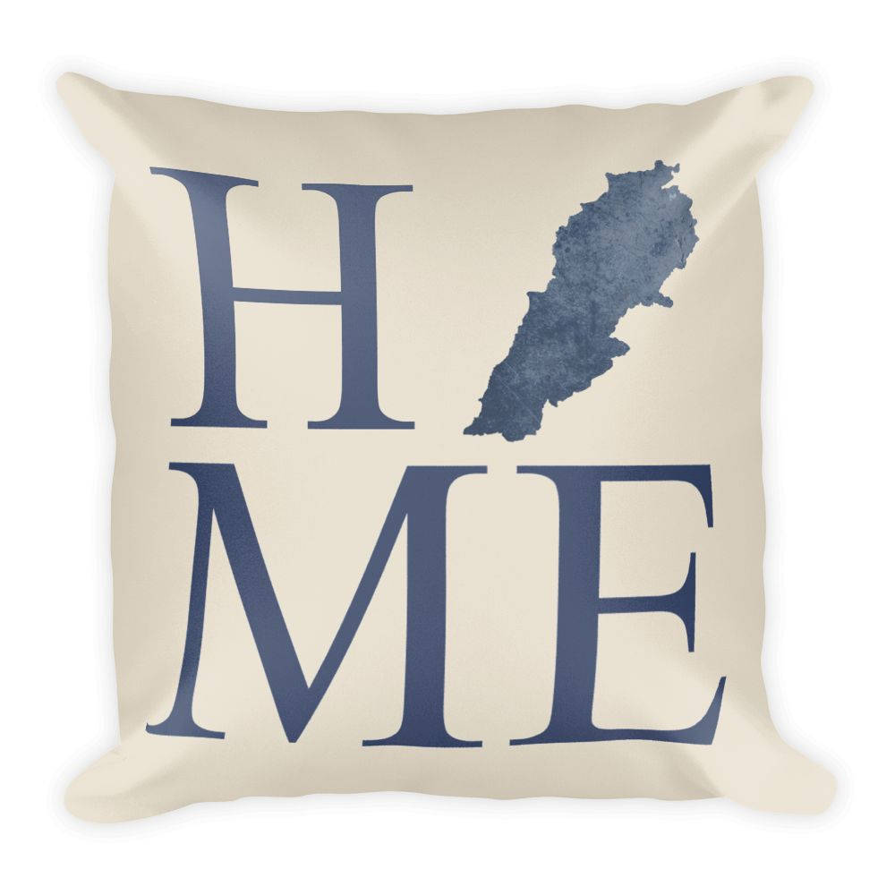 Lebanon Map Pillow – Modern Map Art