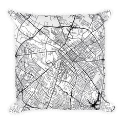 Lexington Map Pillow – Modern Map Art