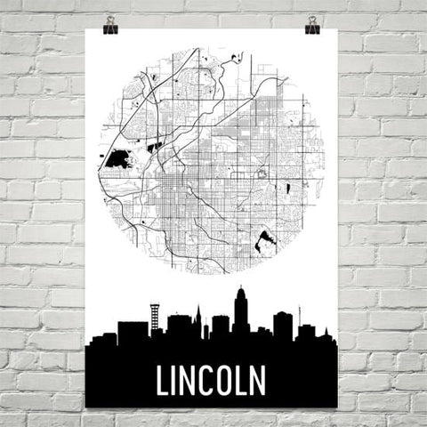 Nebraska Gifts, Souvenirs, and NE Décor – Modern Map Art