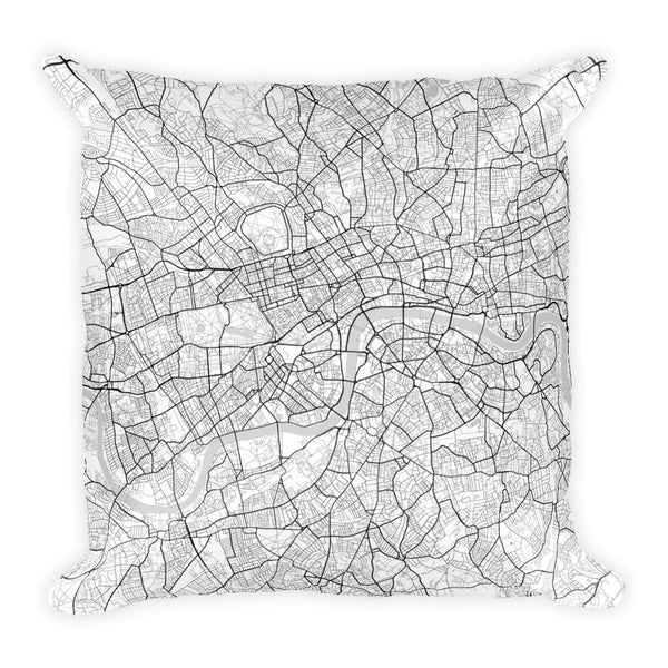 London Map Pillow – Modern Map Art