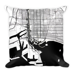 Long Beach Map Pillow – Modern Map Art