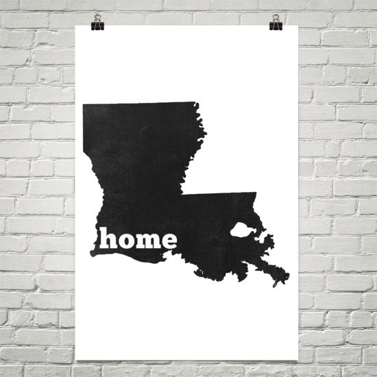 Louisiana Home State Map Art