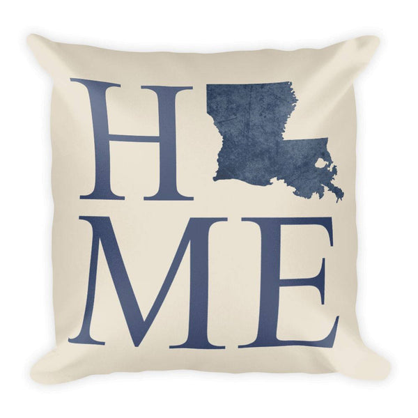 Louisiana Map Pillow – Modern Map Art