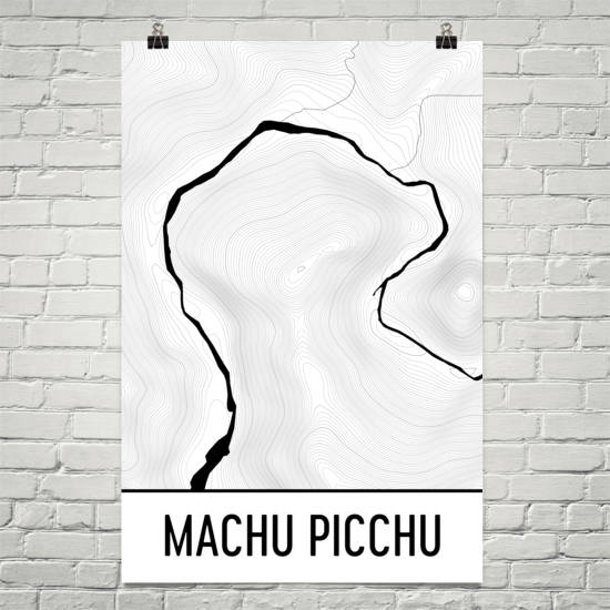 Machu Picchu Topographic Map Art