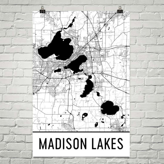 Madison Lakes WI Art and Maps