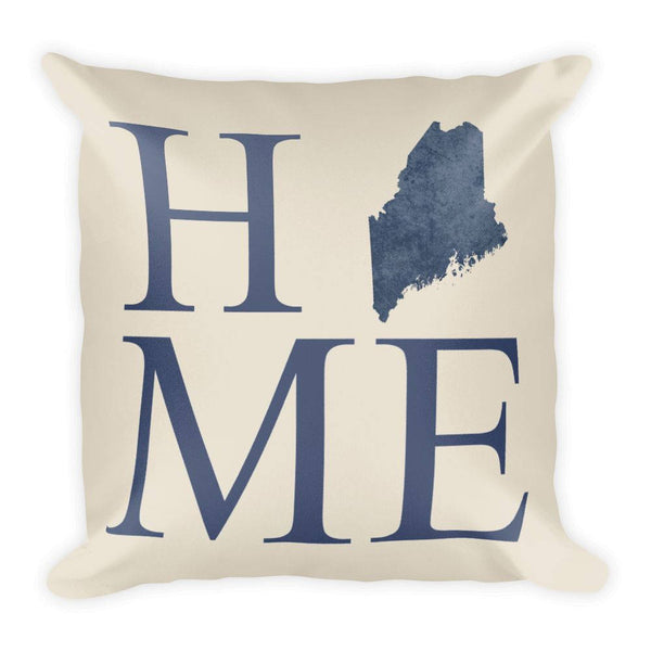 Maine Map Pillow – Modern Map Art