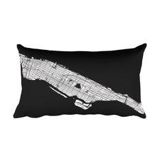 Manhattan (NY) Map Pillow – Modern Map Art