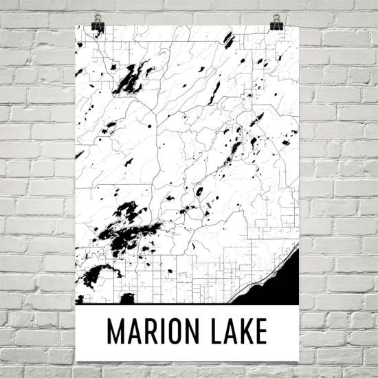 Marion Lake MN Art and Maps