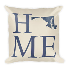 Maryland Map Pillow – Modern Map Art