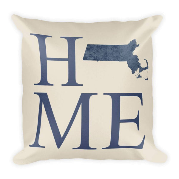 Massachusetts Map Pillow – Modern Map Art
