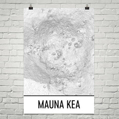 Mauna Kea Topographic Map Art