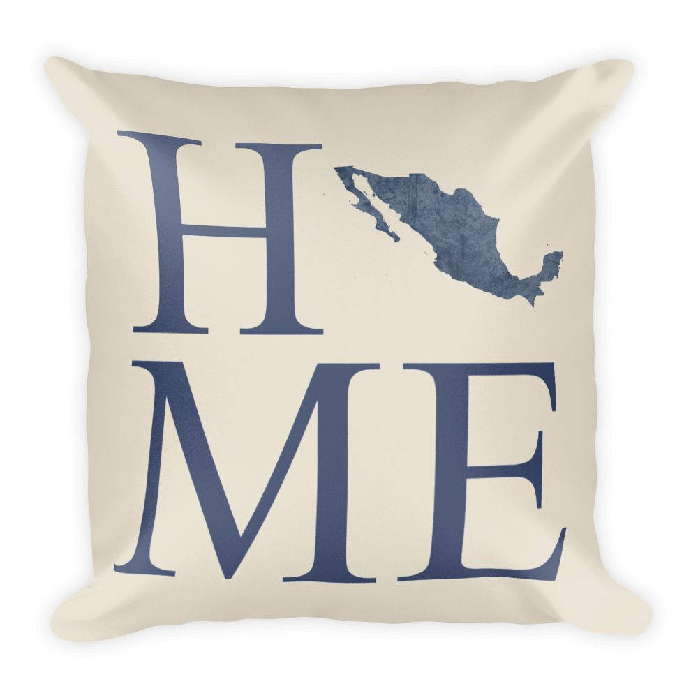 Mexico Map Pillow – Modern Map Art