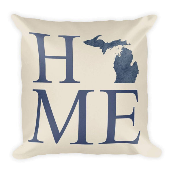 Michigan Map Pillow – Modern Map Art