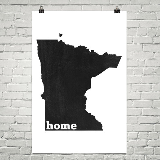 Minnesota Home State Map Art
