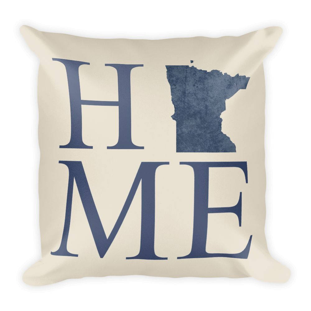 Minnesota Map Pillow – Modern Map Art