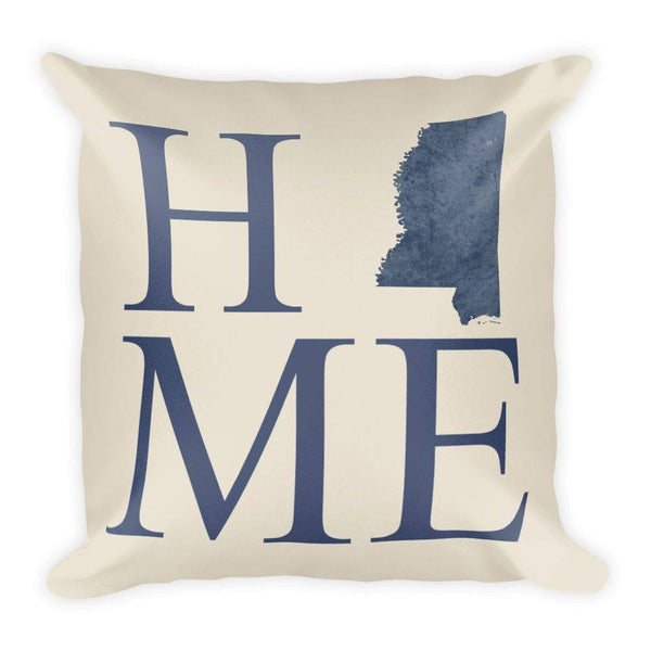 Mississippi Map Pillow – Modern Map Art