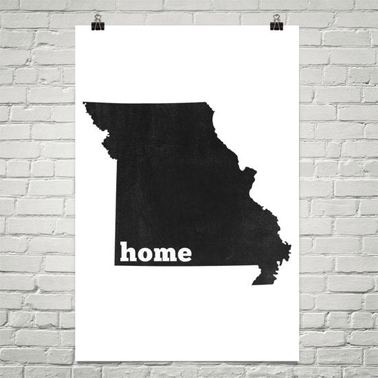 Missouri Home State Map Art