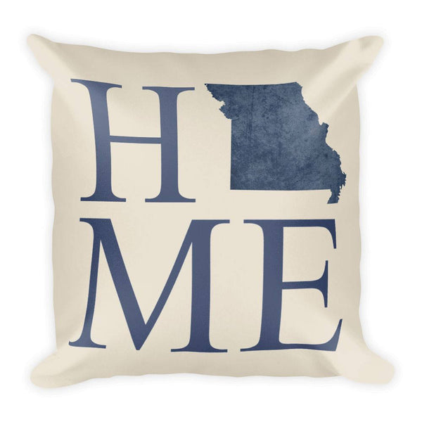 Missouri Map Pillow – Modern Map Art