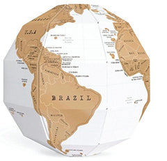 World Map Scratch Off Globe Puzzle - Great Gift For Travelers From Modern Map Art