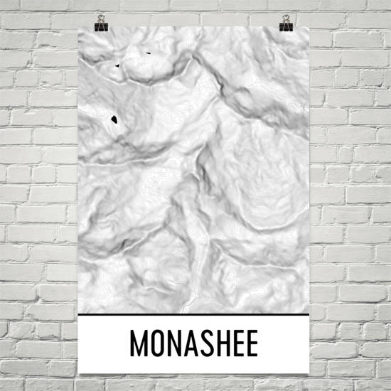 Monashee Topographic Map Art