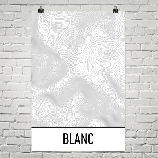 Mont Blanc Topographic Map Art