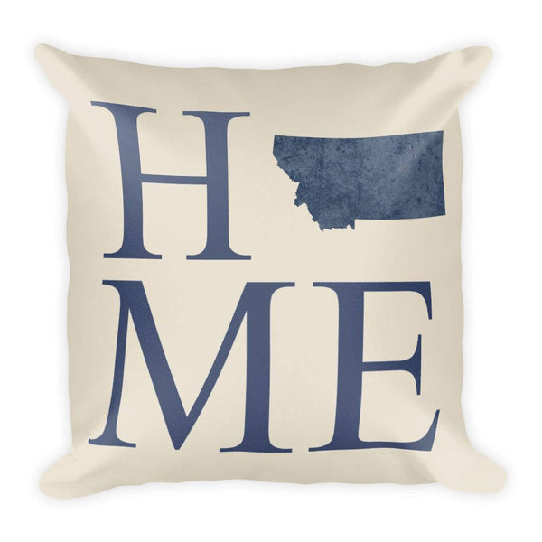Montana Map Pillow – Modern Map Art