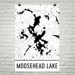 Moosehead Lake ME Art and Maps
