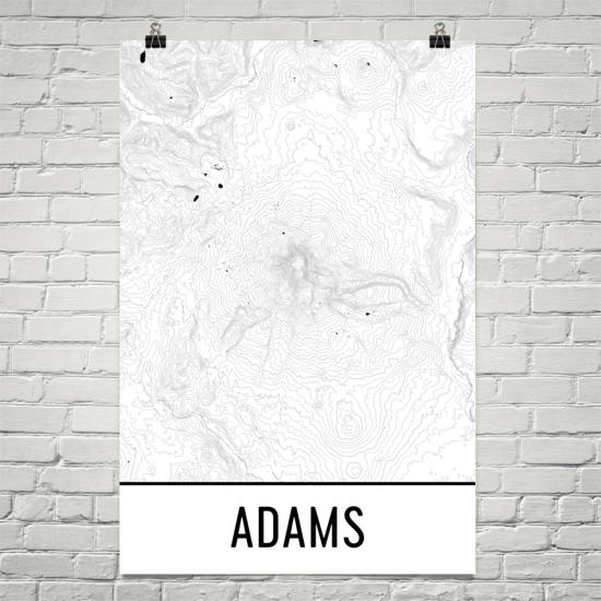 Mount Adams Topographic Map Art