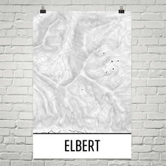 Mount Elbert Topographic Map Art