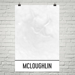 Mount McLoughlin Topographic Map Art