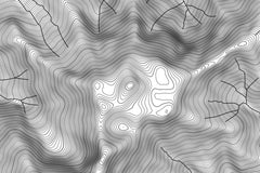 Mount Olympus Topographic Map Art