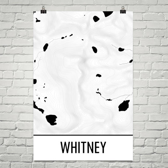 Mount Whitney Topographic Map Art