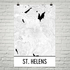Mt. St. Helens Topographic Map Art