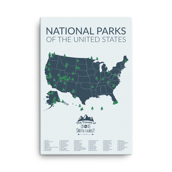 National Park Map Gift